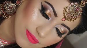 indian stani asian plete bridal makeup tutorial step by step bronze smokey eye