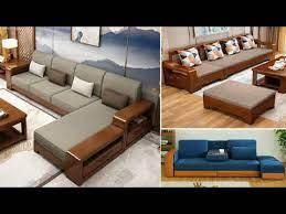 modern wooden sofa set design ideas
