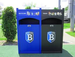 park recycling outdoor recycling bin indoor recycling bin waste receptacle 36 gallons