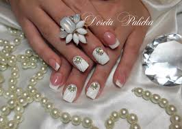 Shell Designs Shell Manicure With Gel 3d Design Wedding Nails Nails Like Shell