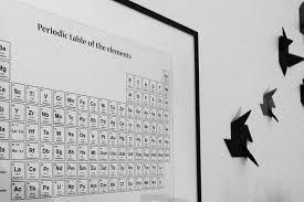 新品 Wallstuff ポスターアートプリント 5070cm Periodic Table