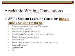 recommended academic writing online resources for eal writers  6 academic writing conventions