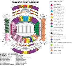 Alabama Seating Chart Bryant Denny Bryant Denny Stadium Seating Chart Bama Stadium Seating Chart