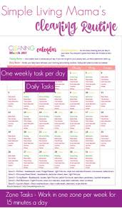 September Cleaning Calendar Simple Living Mama