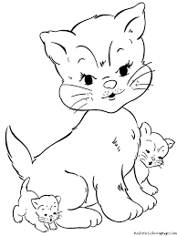 Small Picture Innovative Cat Color Pages Inspiring Coloring 9477 Unknown