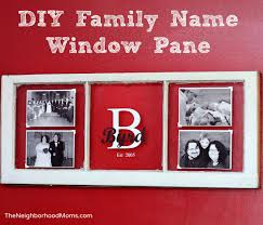 diy vintage window family name and photos frame
