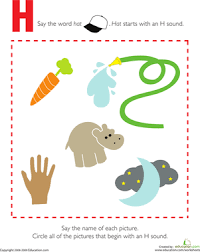 I introduce a friend on monday h brothers cover 5 weeks. Letter Sounds H Worksheet Education Com