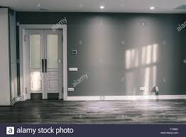 Edging Glass Design Room With A Gray Wall And A White Door Glass Door With