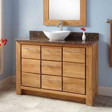 Bathroom Vanity Depth 48 Narrow Depth Venica Teak Vessel Sink Vanity Bathroom