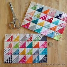 tiny things are my favorite (crazy mom quilts) | Half square ... & tiny things are my favorite (crazy mom quilts) Adamdwight.com