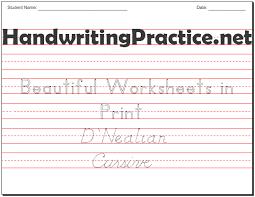 Handwritting Practice Beautiful Handwriting Practice Worksheets