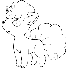 Small Picture Vulpix Coloring Pages GetColoringPagescom