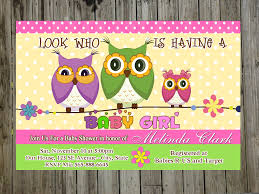 Blue Owl Baby Boy Shower Invitations Bs158Owl Baby Shower Invitations For Boy