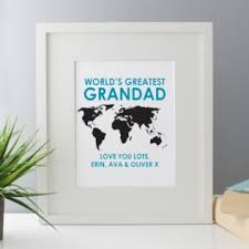 personalised worlds greatest grandad framed print image