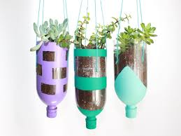 DIY Hanging Recycled Water Bottle Planter Project  momtastic.com
