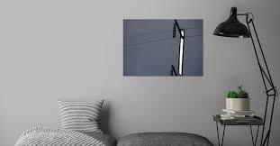 Minimalist Railway Cables' Metal Poster Print - Aubrey Moat | Displate