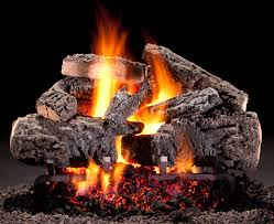 hargrove cross timbers vented gas logs black stone birch logs for gas fireplace contemporary