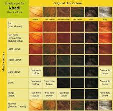 Khadi Hair Colour Chart In 2019 Hair Color Henna Hair