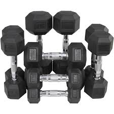 Rubber Coated Hex Dumbbell Set With Rack Beauteous Rubber Coated Hex Dumbbell Weights Training Set 32 32 132 32 232 Lb