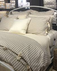 home interior launching ticking stripe bedding cloud gray duvet cover carousel designs from ticking stripe