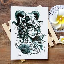 водонепроницаемые временные татуировки наклейки сексуальные овны женская тату