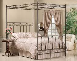 Leaf Canopy Wrought Iron Bed  Humble AbodeCanopy Iron Bed