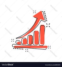 Chart Cartoon Cartoon Growth Chart Icon In Comic Style Grow
