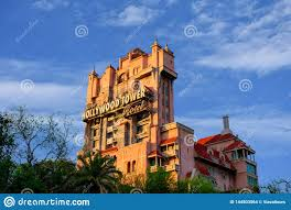 Tower Of Light Orlando Florida The Twilight Zone Tower Of Terror And Palm Trees On