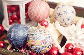 Mod Podge Nautical Christmas Ornaments: Coastal Christmas Projects - Crafts  by Courtney