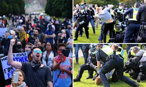 Skip to sections navigation skip to content skip. Cops Swarm On Anti Lockdown Protesters In Melbourne For Freedom Day Rally Daily Mail Online