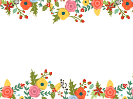 Cute Template Cute Floral Powerpoint Templates Border Frames Flowers Green