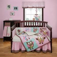 Bananafish Calico Owls Crib Bedding and Decor