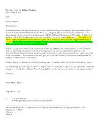 Adjunct Faculty Cover Letter Template Granitestateartsmarket Com