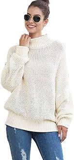 <b>Womens</b> Loose Pullover <b>Fashion Turtleneck Sweater</b> Knitted Casual ...