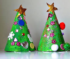 Christmas crafts for kids - tree hats