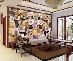 Kopen 3d Relief Tv Achtergrond 3d Behang Bloem Landschap Behang