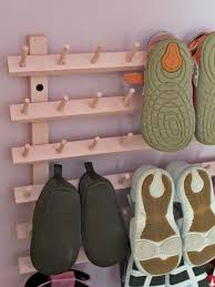 homemade wall mounted shoe rack with hooks inspirational homemade shoe rack designs ideas furniture