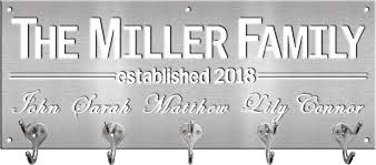 Name Coat Rack Amazing Coat Rack With First And Last Names Metal Signs And Your Designs