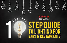 lighting for bars. a 10 step guide to lighting for bars and restaurants u2013 kodak led t