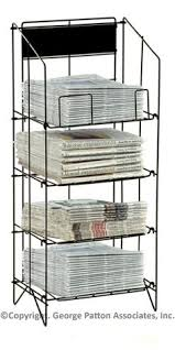 Newspaper rack for office Wire Metal Newspaper Stand That Has Four Levels 34 Magazine Shop Magazine Stand Newspaper Stand Cherry Tree Gallery 32 Best Newspaper Stand Images Magazine Holders Newspaper Stand