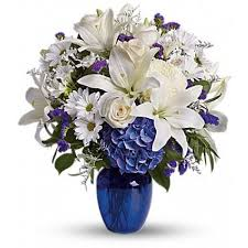 Beautiful in Blue Flower Arrangement