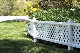 Vinyl lattice fence panels Foot Short White Vinyl Fence Panel In Garden Eccsouthbendorg 55 Lattice Fence Design Ideas pictures Of Popular Types