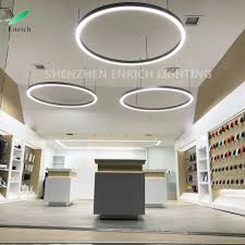 Circular Lights Hot Item Aluminum Body Led Ring Lights Suspended Ceiling Circular Ring Led Fixture