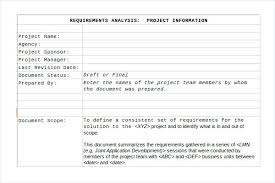 Project Scope Template Excel Requirements Document – Template Gbooks