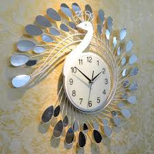 Fashion Peacock Design Silent Wall Clock Creative Craft Clocks For High  Grade Living Room Bedroom Decor Wall Clock Online With $307.62/Piece On  Lala2016u0027s ...