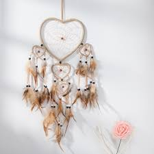 Asian Dream Catcher 100 Traditional Brown Dream Catcher with Feathers Wall or Car 59