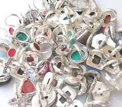 1000grams handmade jewelry 925 sterling silver overlay whole ring lot