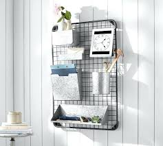 wall mounted home office. Home Office Wall Organizers Pottery Barn Antique Zinc All In One Organizer Mounted System