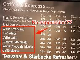starbucks hot drinks menu. Delighful Drinks No Cappuccino Starbucks For Starbucks Hot Drinks Menu K