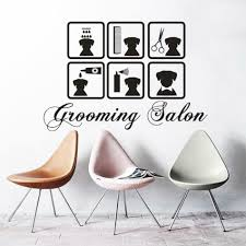 Dog Grooming Room Design Pets Salon Vinyl Wall Decal Vet Shop Stickers Pets Dog Grooming Wall Sticker Pets Grooming Salon Window Posters Decoration Wl244